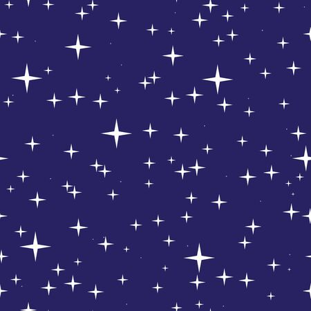 sky night: Abstract seamless pattern with night sky and stars. Starry sky texture. EPS8 vector illustration.