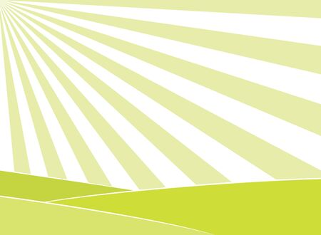 light abstract: Abstract light green field and sun rays in the sky background. EPS8 vector illustration. Illustration