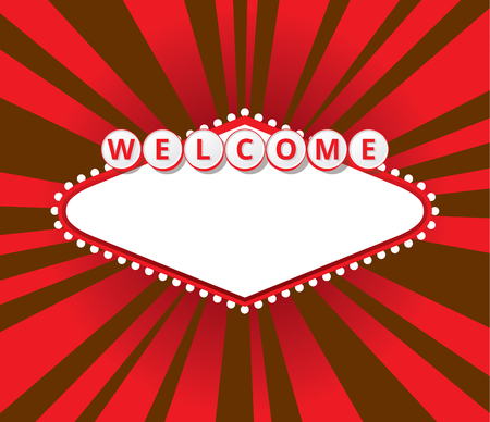 travel star: Background with sign like Welcome to Fabulous Las Vegas Nevada. EPS10 vector illustration.