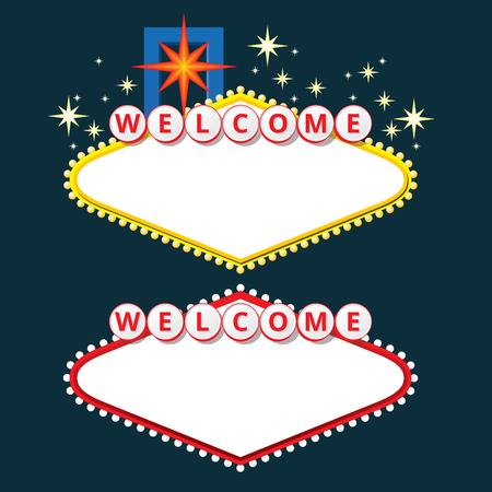 Design elements like Welcome to Fabulous Las Vegas Nevada. EPS10 vector illustration.