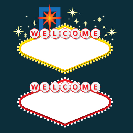 las vegas strip: Design elements like Welcome to Fabulous Las Vegas Nevada. EPS10 vector illustration.