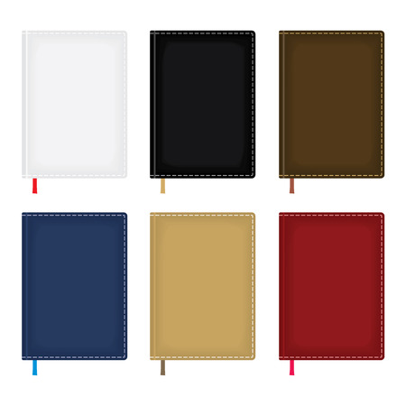 moleskin: Set of notebook or diary blank covers for branding and your design. EPS8 vector illustration. Illustration