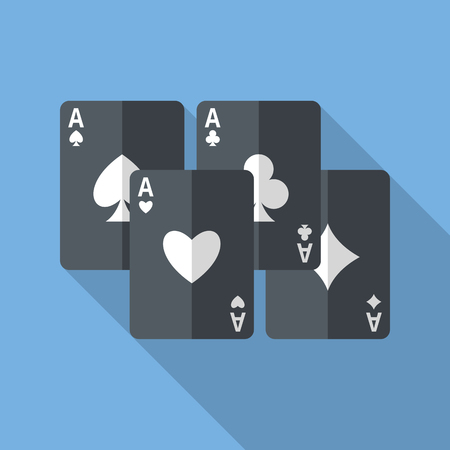 aces: Set of four aces playing cards.