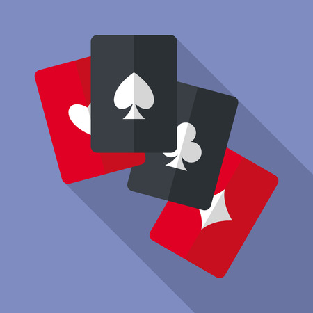 Set of four aces playing cards.