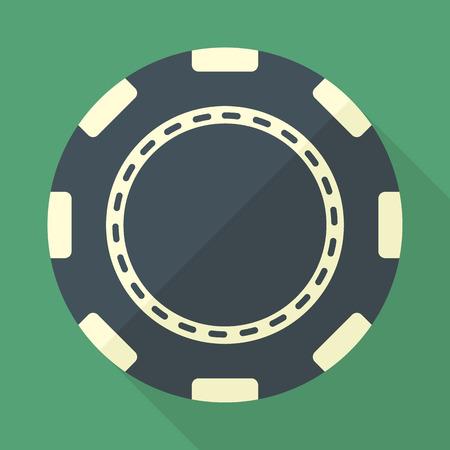 Casino chip vector flat icon.
