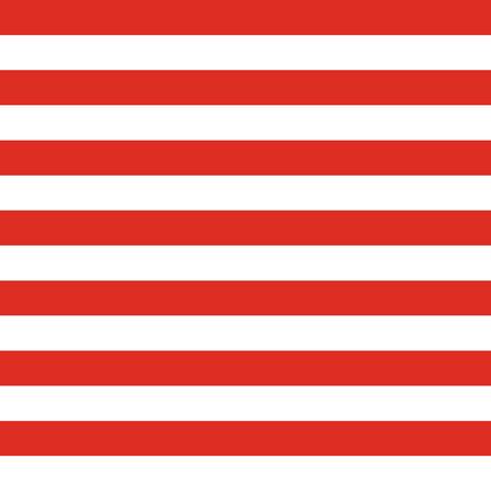 Modello patriottico USA senza soluzione di continuità. Simboli e colori della bandiera americana. Sfondo per la festa dell'indipendenza degli Stati Uniti del 4 luglio. Strisce rosse e bianche. Vettoriali