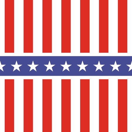 stars and symbols: Patriotic USA seamless pattern. American flag symbols and colors. Background for 4th july USA independence day. Stars and vertical red and white stripes.