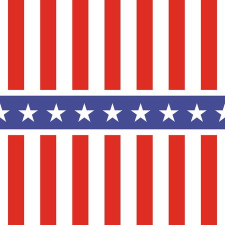 Patriotyczny wzór USA. Symbole i kolory flagi amerykańskiej. Tło dla 4th Lipa usa dnia niepodległości. Gwiazdy i pionowe biało-czerwone pasy.