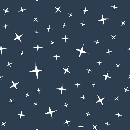 night sky stars: Abstract seamless pattern with night sky and stars. Star sky background. EPS8 vector illustration.