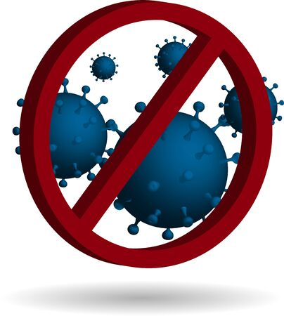 threat to human immunity, symbol of protection against harmful bacteria and viruses  イラスト・ベクター素材