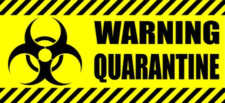 yellow biohazard sign and quarantine zones on transparent background