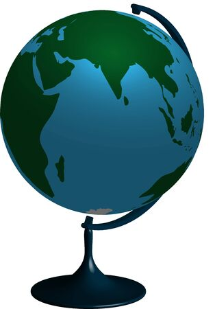 school globe, realistic 3D vector image on a transparent background Vector Illustration