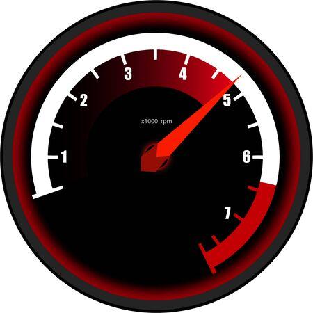 car tachometer on a transparent background, sensors and devices Vecteurs