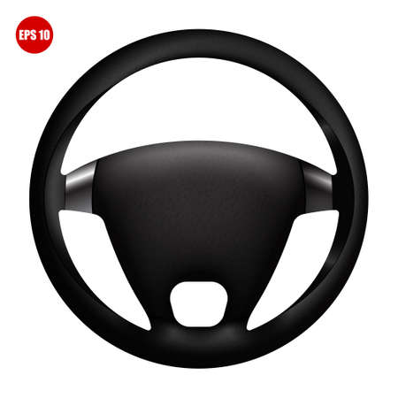 realistic car steering wheel. Spare parts and modernization.