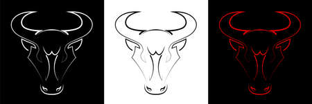 Symbol of 2021 in the Chinese calendar. Strength, might. Element for tattoo. Vector