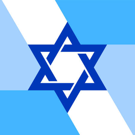 Star of David template for infographic. Hexagonal star of national flag of Israel. Vector