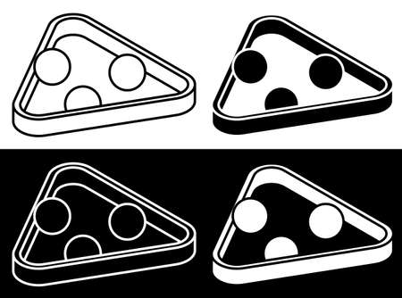billiard ball in triangle icon for pool or snooker game. Sports design element for competitions. Vector