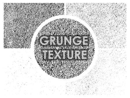 set of dirty grunge textures with different number of spots on transparent background. Texture of old wall surface. Vector