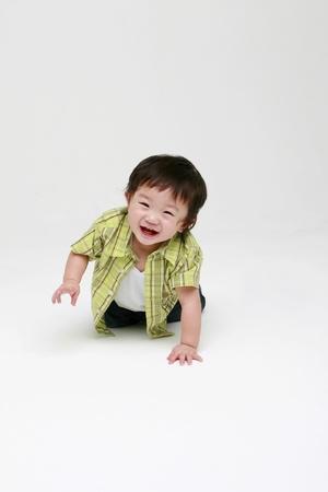 playing with baby: Bambino felice