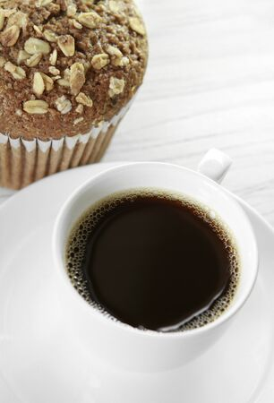 Coffee and muffin photo