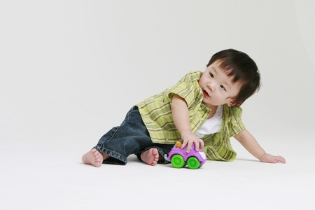 Cute toddler playing