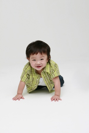 Cute smiling toddler photo