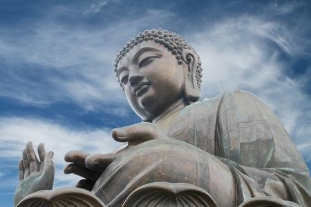 big buddha: The Tian Tan Buddha in Hong Kong