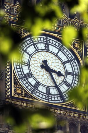 Famous clock tower in London referred to as the Big Ben  photo