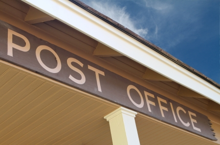 postal office: Post Office Sign Stock Photo