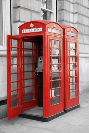 telephone booth: Red London Phone Booths