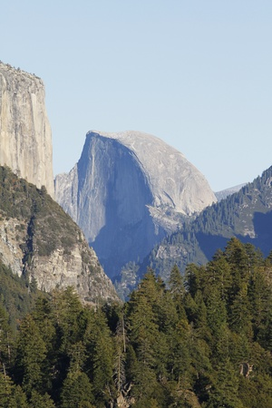 The Half Dome rock formation at the Yosemite National Park  photo