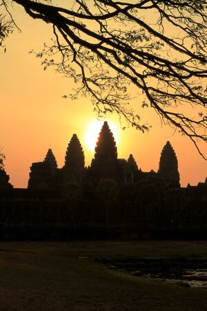 Sunrise at Angkor Wat in Siem Reap, Cambodia photo