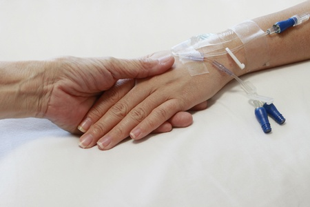 intravenous: Comforting the Sick Stock Photo
