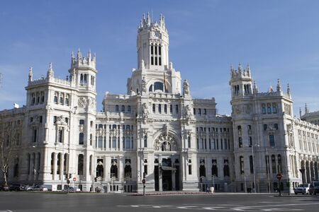 cibeles: The Cibeles Palace  formerly named Communications Palace  in Madrid, Spain