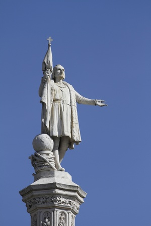 christopher columbus: Monument of Christopher Columbus in Madrid, Spain  Stock Photo