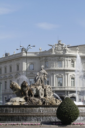 The Cibeles Fountain in Paseo de Recoletos in Madrid, Spain  Stock Photo - 12883453