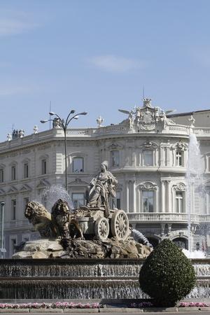The Cibeles Fountain in Paseo de Recoletos in Madrid, Spain Stock Photo - 12883453