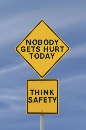 safety slogan: Workplace Safety Road Sign