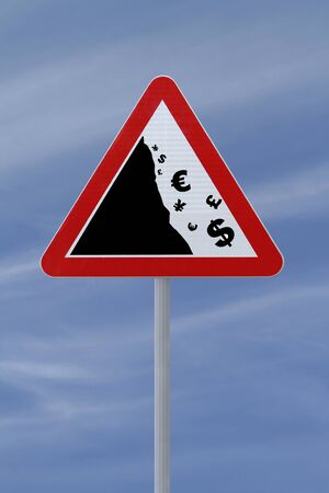 Global financial crisis  road sign photo