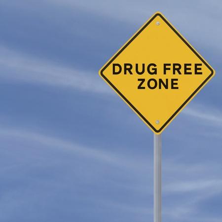 "street drug: A ""drug free zone"" road sign  Stock Photo"