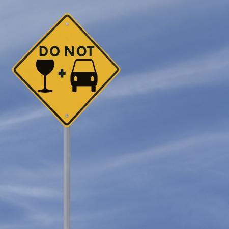 Aangepast verkeersbord op het gevaar van rijden onder invloed Stockfoto - 13690806