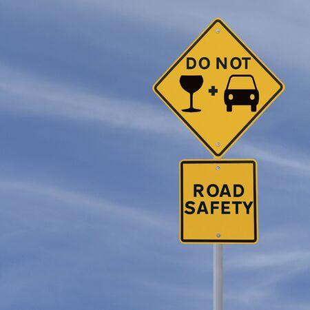 Modified road sign on the danger of drinking and driving Stock Photo - 13690809