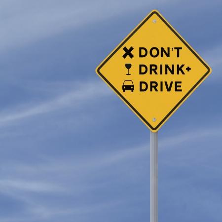 Gewijzigd verkeersbord benadrukken het gevaar van rijden onder invloed Stockfoto - 13934760