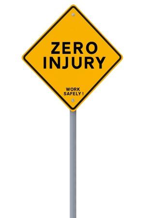 Safety reminder isolated on white background