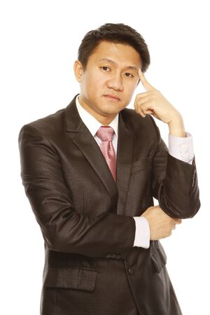 A young businessman in  serious thought Stock Photo - 14091387