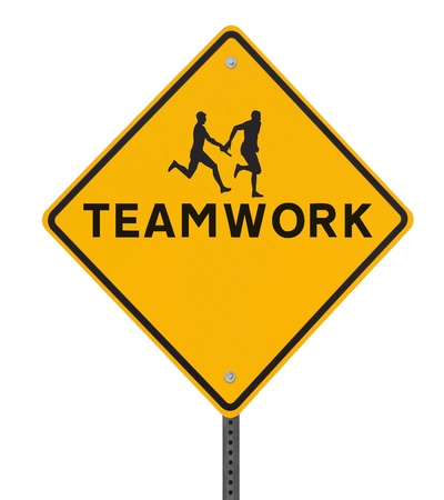 teammate: Road sign showing the silhouette of an athlete passing the baton to his teammate in a relay race