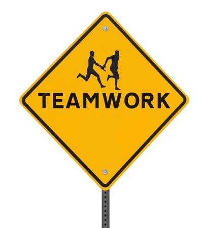 relay: Señal de tráfico que muestra la silueta de un atleta pasa el testigo a su compañero de equipo en una carrera de relevos