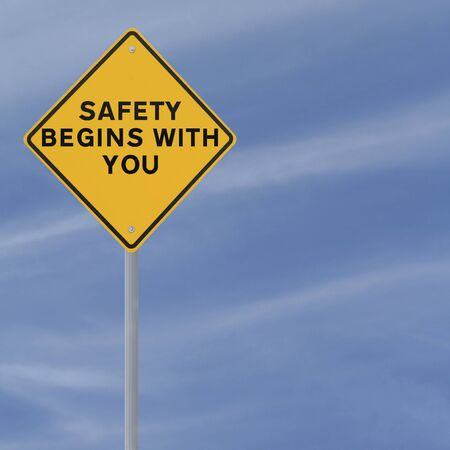 Road sign highlighting the importance of safety  photo