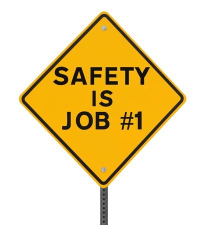 Verkeersbord nadruk op het belang van de veiligheid Stockfoto - 14965847