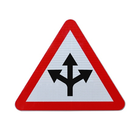 Conceptual road sign on choices or making decisions Banco de Imagens